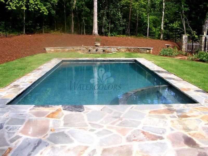 Home Watercolors Custom Pools Magnificent Backyard Lazy River Creative