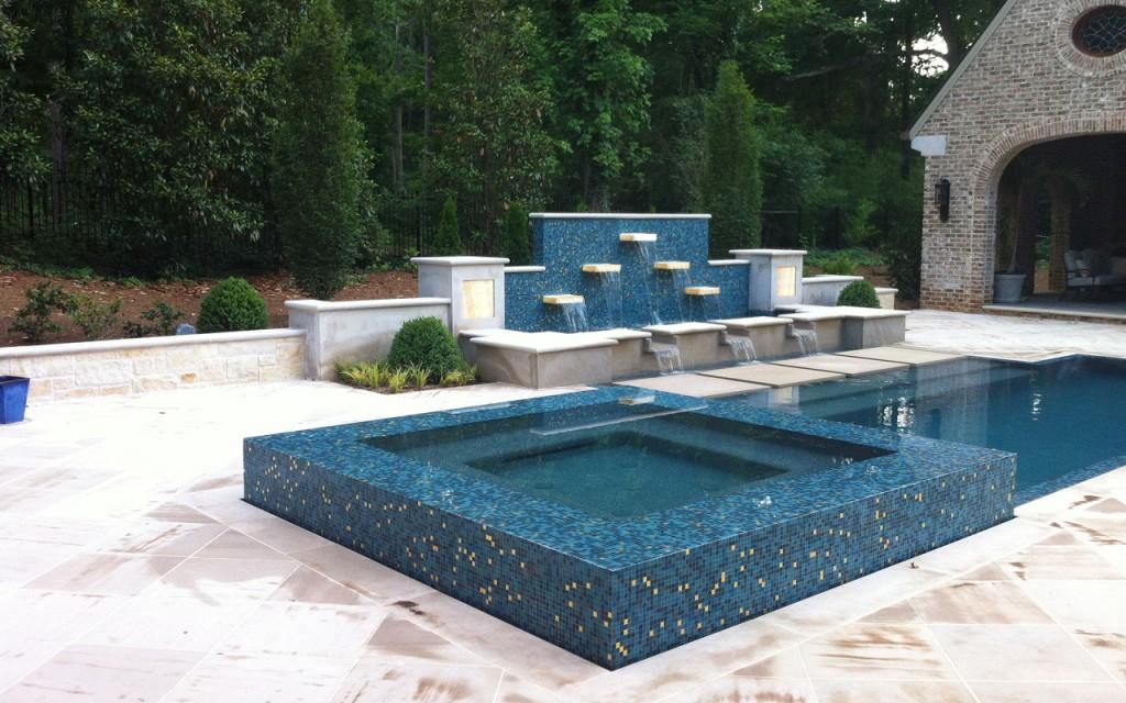 Geometric Watercolors Custom Pools